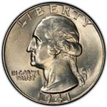 1941 Washington Quarter