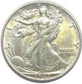 1942-S Walking Liberty Half Dollar