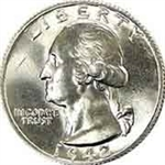 1942 Washington Quarter