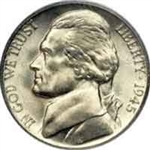 1945-S Silver Nickels
