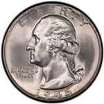 1945 Washington Quarter