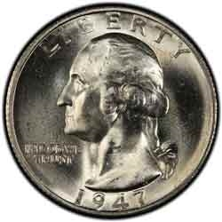 1947-S Washington Quarter