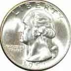 1951-S Washington Quarter