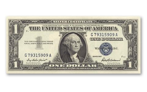 1957 Silver Certificate Silver Certificate Dollar Bill