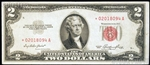 1963 $2 Red Seal U.S. Currency Notes