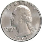 1981-P Washington Quarter