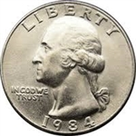 1984-P Washington Quarter