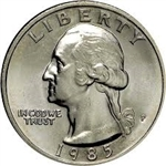 1985-P Washington Quarter