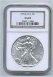 1996 American Silver Eagle NGC MS69