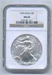 1998 American Silver Eagle NGC MS69