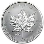 2000 Canadian 1 oz. Silver Maple Leaf - Lunar Dragon Privy Mark