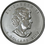 2010 Canadian One Ounce Silver Maple Leaf