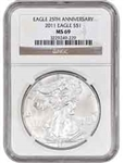 2011 American Silver Eagle NGC MS69