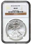 2014 American Silver Eagle NGC MS69