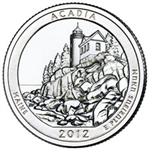 2012-S Acadia America the Beautiful Quarter