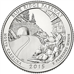 2015-P Blue Ridge Parkway National Park Quarter