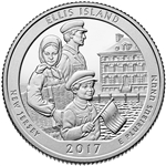 Ellis Island Proof Quarter