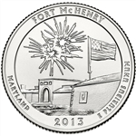 2013-S Fort McHenry America the Beautiful Quarter
