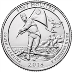 2016-P Fort Moultrie National Park Quarter