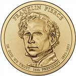 2010-D Franklin Pierce Presidential Dollar