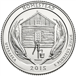 2015-P Nebraska Homestead National Park Quarter