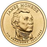 2008-D James Monroe Presidential Dollar