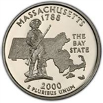 Massachusetts State Quarter 2000-P