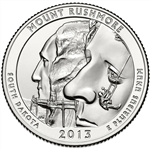 America the Beautiful Quarters Mount Rushmore