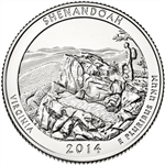2014-S Shenandoah America the Beautiful Quarter