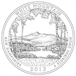 2013-S White Mountain America the Beautiful Quarter
