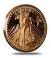 Saint Gaudens Design 1 oz Copper Rounds