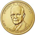 Dwight Eisenhower Presidential Dollar Coins