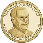 Franklin Roosevelt Presidential One Dollar Coins
