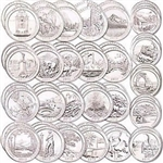 America the Beautiful Quarter Coin Set