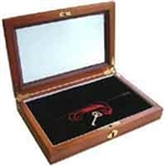Guardhouse Wood Glass Top Coin Display Box 2 Slab