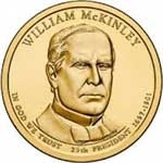 2013-P William McKinley Presidential Dollar