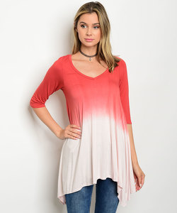 C28-A-5-T9444 RUST LIGHT PINK TOP 2-2-1