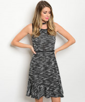 136-2-5-NA-D13167 CHARCOAL MARBLED DRESS 2-3-2