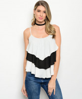 C20-B-1-T17553 WHITE BLACK TOP 1-2-2