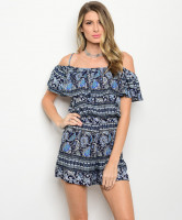 C12-A-6-R17556 NAVY IVORY ROMPER 2-2-2