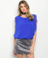 131-2-5-D57219 ROYAL BLUE WITH SILVE SEQUINS DRESS 1-1-2