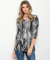 123-1-1-T967A BLACK WHITE TOP 1-2-1