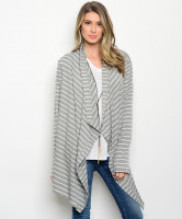110-3-1-CT447 GRAY WHITE CARDIGAN 1-2-2-1