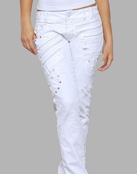White designer jeans – Global fashion jeans collection