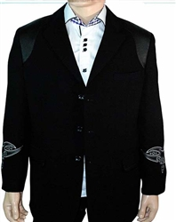 Pronti Black Tribal Designer Blazer