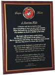 Plaque: Marine Corp Wife