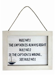 Plaque: The Captain is Always Right