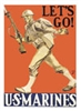 Poster: Let's Go Marines