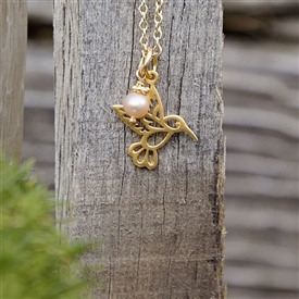 Henrietta Hummingbird - charm necklace