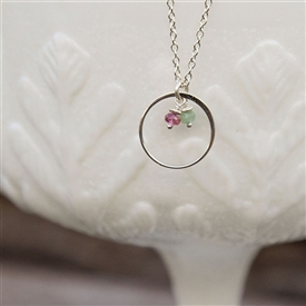 My Family Circle Birthstone Necklace